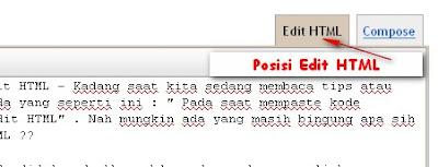Tab HTML kolom postingan pada blogspot