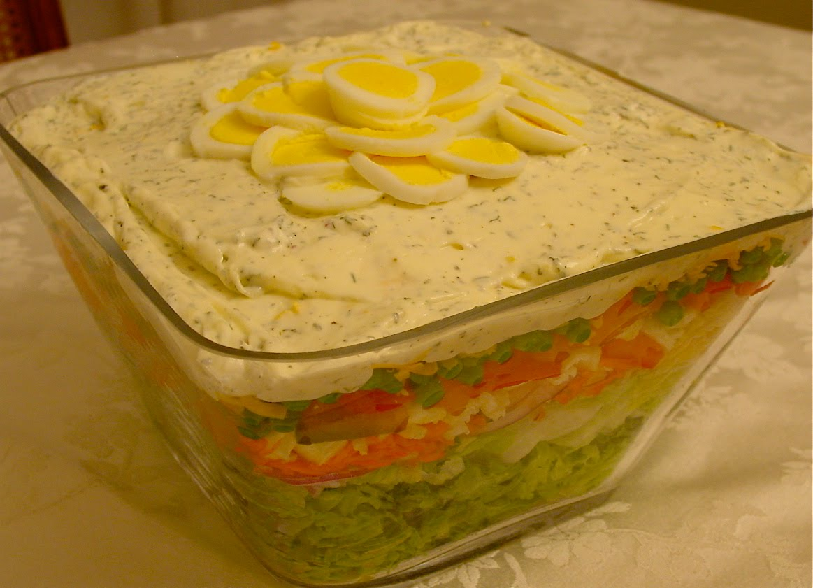 old fashioned layered salad