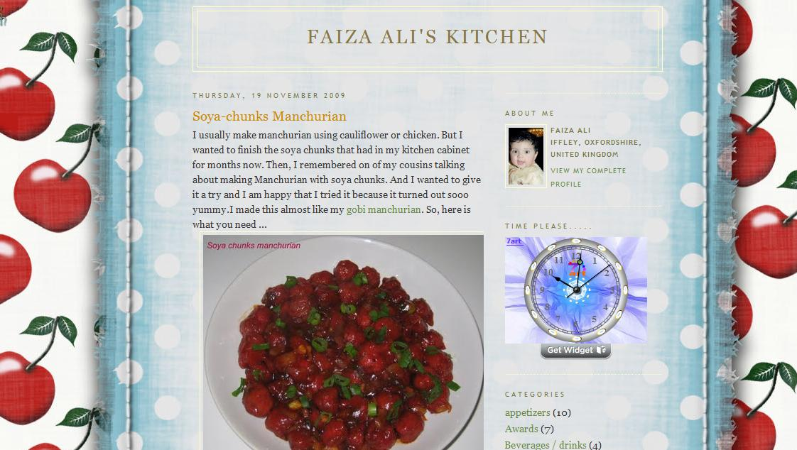 Blog Title: Faiza Aliu0027s Kitchen. Blog URL: Http://faizaali.blogspot.com/