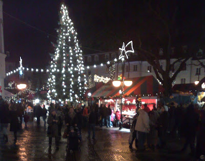 christmas market, lights