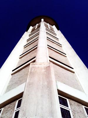 church, communications tower, concrete,