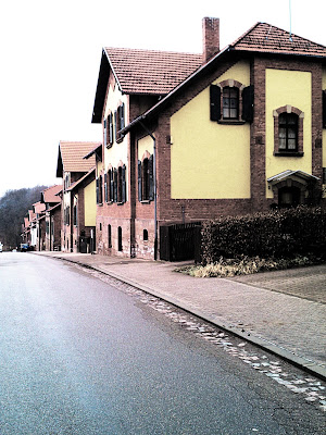 red brick, street