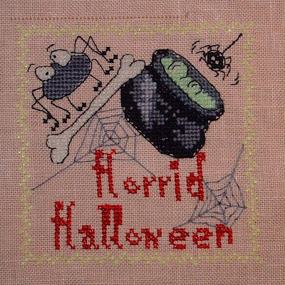 Horrid Halloween Biscornu