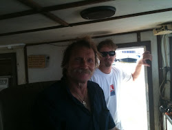 Captain Donnie and Dr. Chris Pincetich from the Sea Turtle Restoration Project
