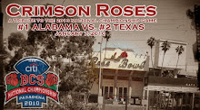 Crimson Roses: A Tribute to the 2010 BCS National Championship Game
