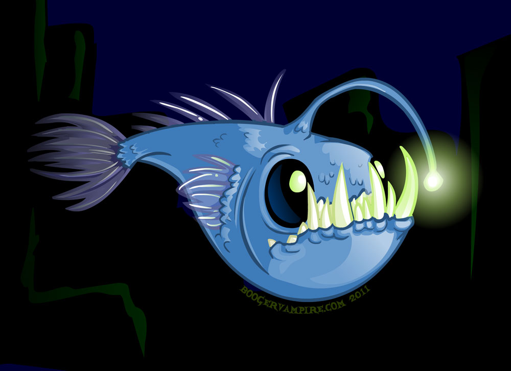 The continuing adventures of the boogervampire angler for What is an angler fish