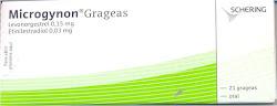 MICROGYNON: Envase con 21 grageas