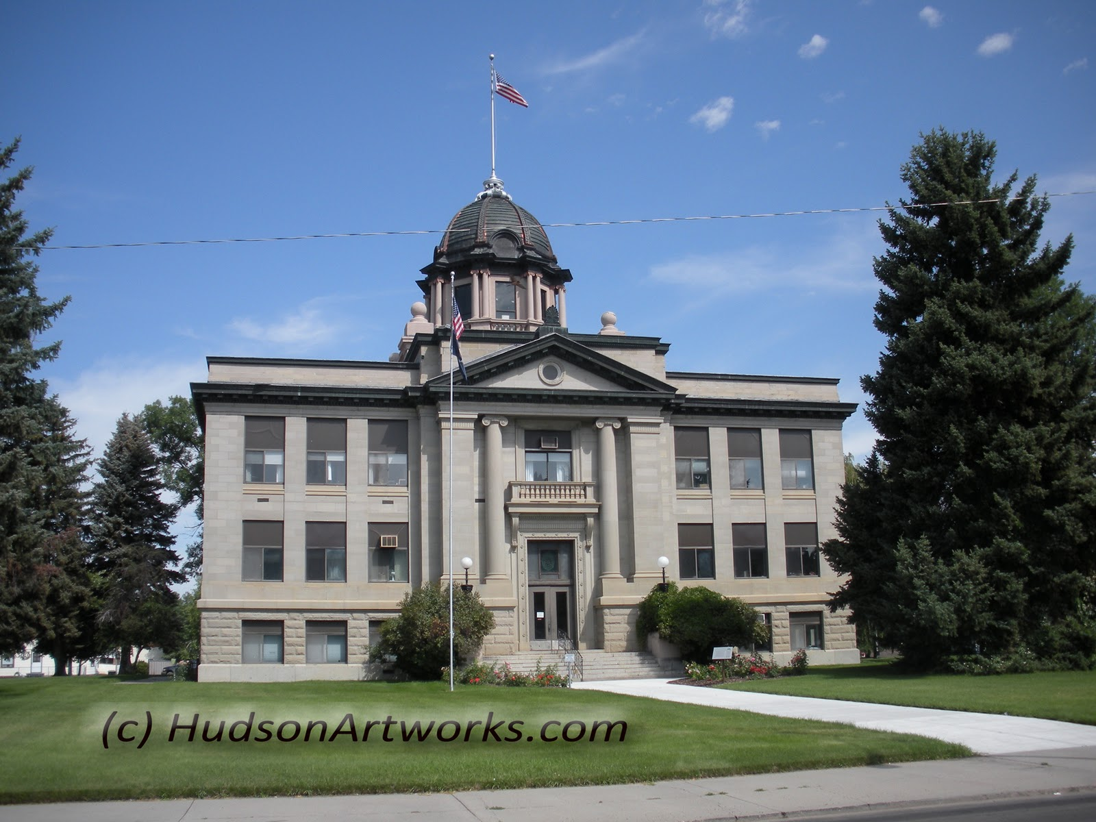 Montana rosebud county forsyth - Here A Another View Of The Rosebud Montana County Courthouse