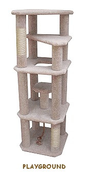 how to build a tall cat tree