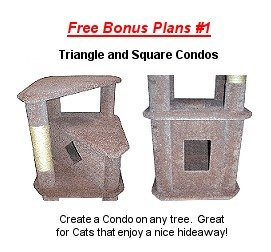 Cool cat tree plans free cat tree plans for Condo plans free