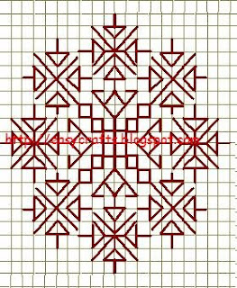 Easy Crafts - Explore Your Creativity Kasuti Embrodiery-Motif