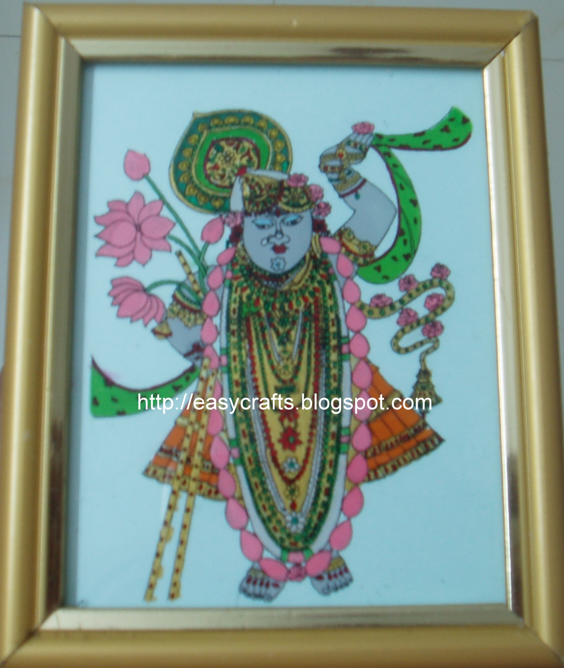 Easy crafts explore your creativity tanjore glass for Easy glass painting designs