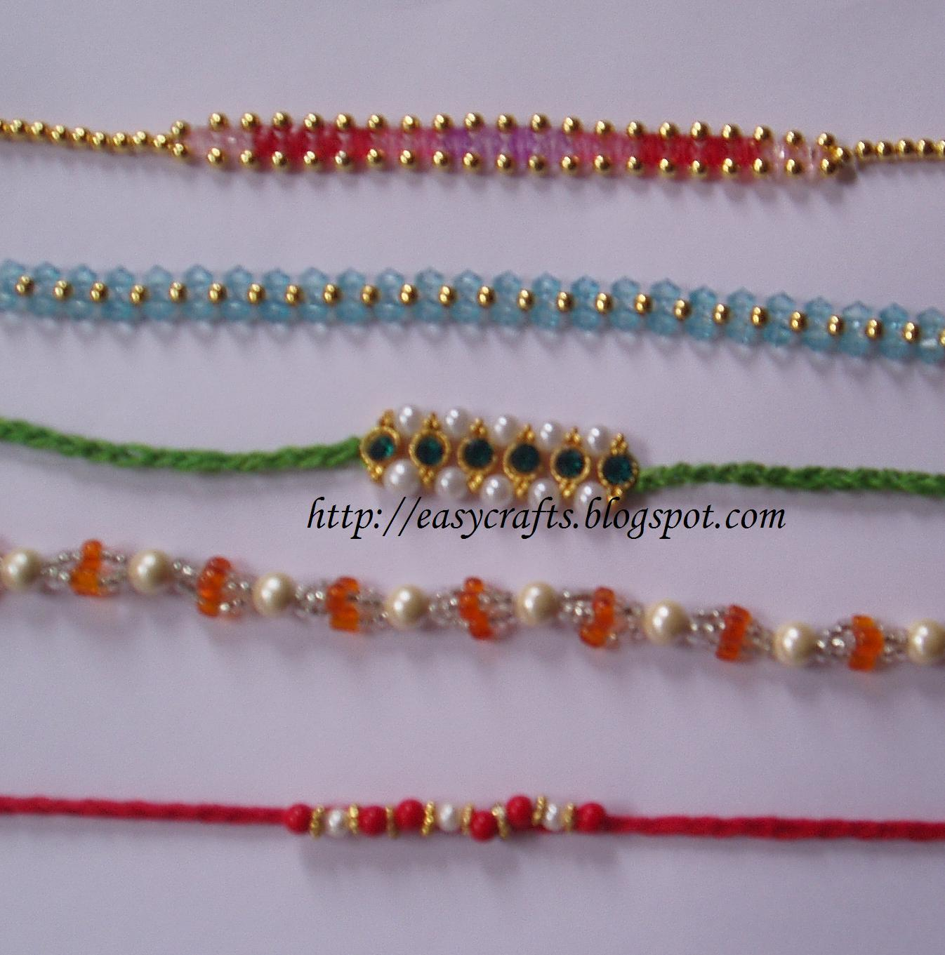 Easy crafts explore your creativity best out of waste ideas - Easy Crafts Explore Your Creativity Handmade Rakhis