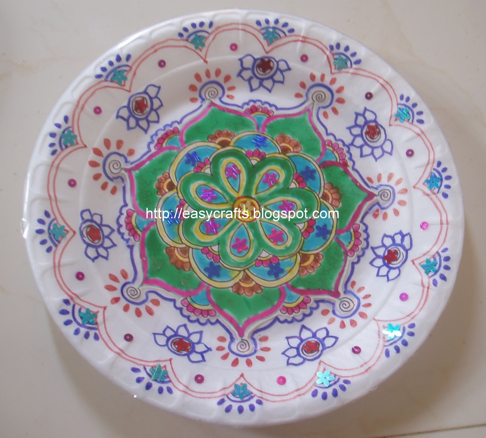 Easy crafts explore your creativity decorative aarti plate - Decoratieve platen ...
