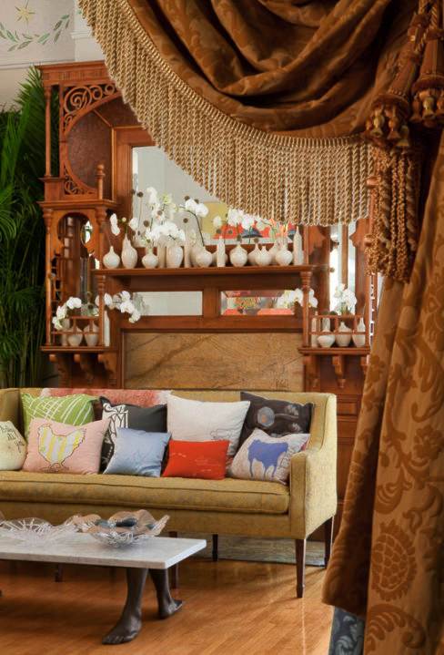 A Peek Into The Parlor Reveals Collection Of Handcrafted Pillows By Several Different SCAD Related Artists Including Working Class Studio Paige Hathaway