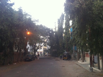 Pune India Koregoan Park side street