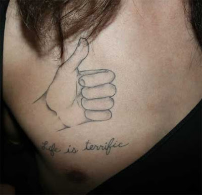 Meaningful Quotes Tattoos on Style Tattoo S  Life Is Terrific