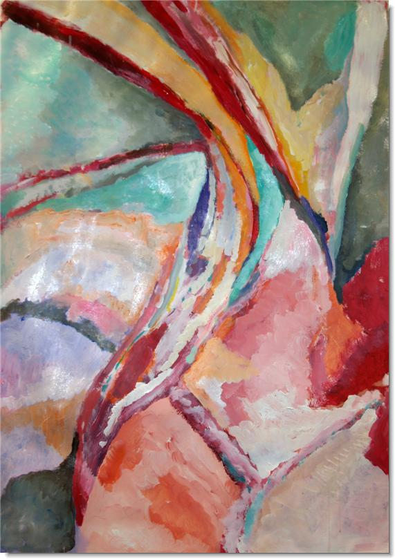 Camera en kwast het ontstaan van een abstract schilderij - Associatie van kleur e geen schilderij ...
