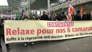 manifestation en faveur des Continental, 13 janvier 2010