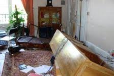 bureau saccagé de la sous-préfecture de Compiègne