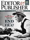 couverture du magazine américain Editor and Plublisher