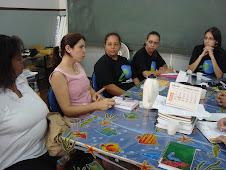 Fotos da reunião com a Secretária do Ensino Fundamental Ana Cristina Ferreira Martins