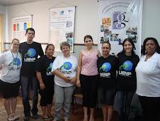 Equipe Alfaletra com as Secretárias do Ensino Fundamental e Infantil