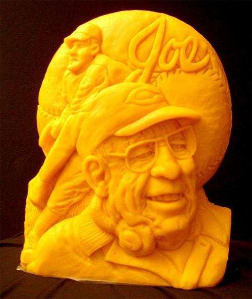 Esculturas feitas de queijo