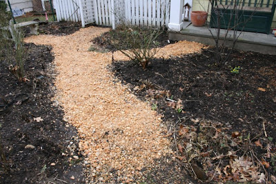 heirloom gardener Maintaining a Pebble Path and Keeping the