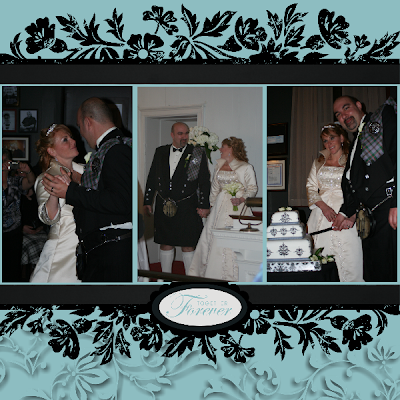 I have been dying to scrapbook some wedding photos I had this layout in my