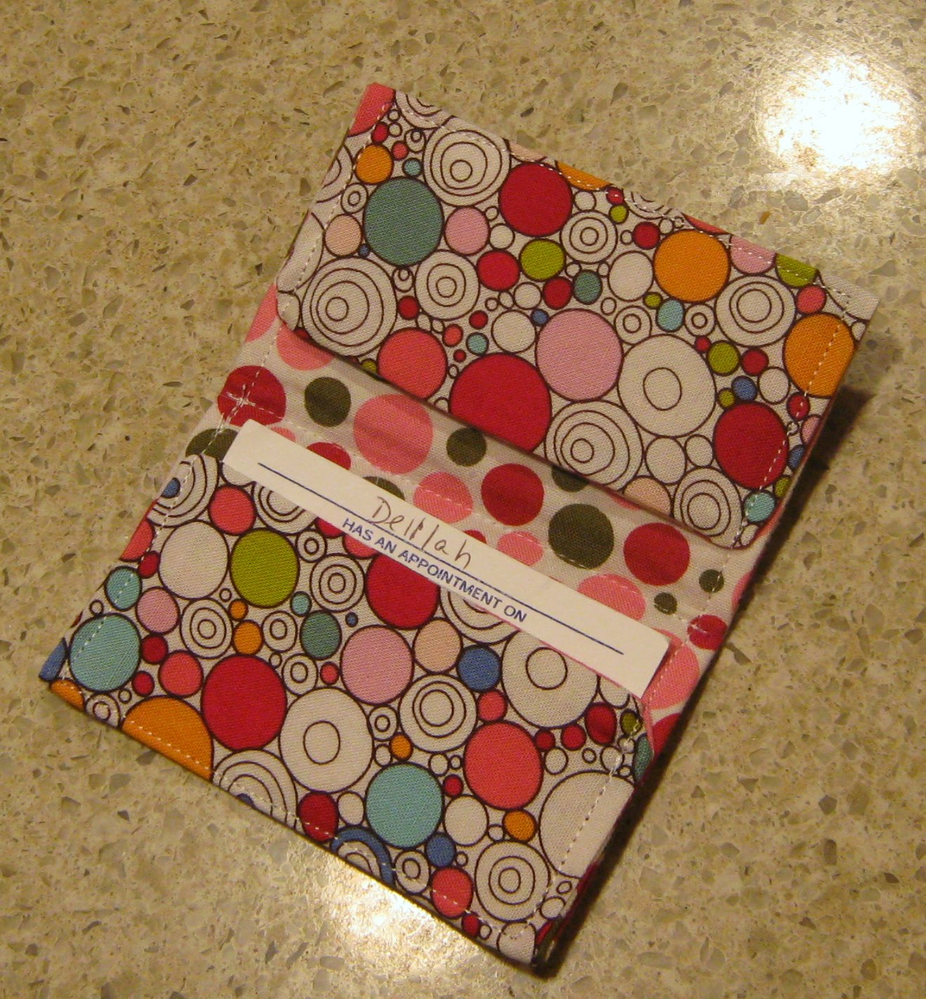 Delilah\'s Momma - Work, Play, Eat!: Fabric Business / Gift Card Holder