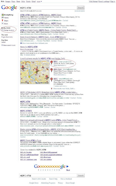 Google search results according your location 6