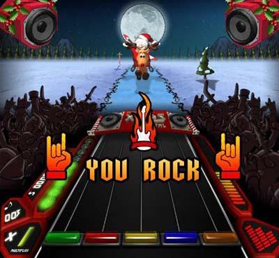 Santa Rockstar Metal Xmas 3