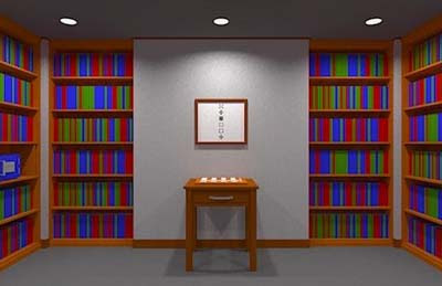 Escape from the Room Surrounded by Bookshelves