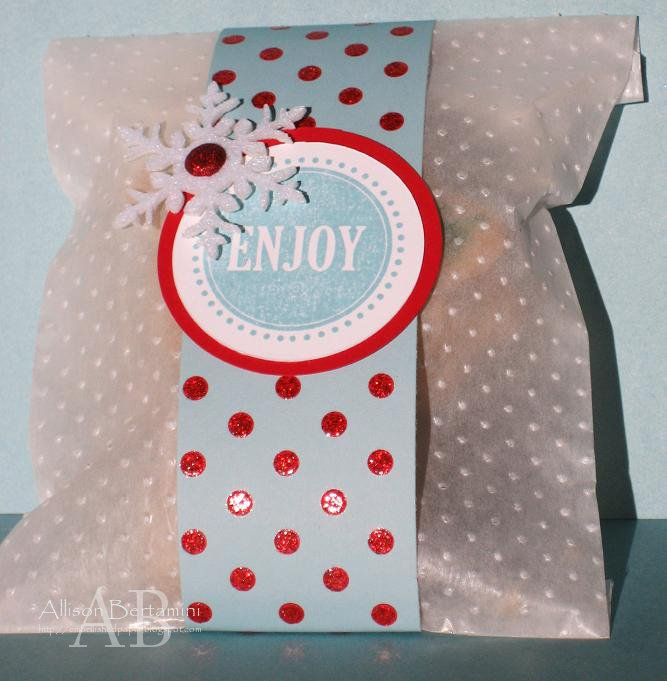 Embellished paper christmas cookie bags