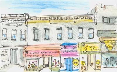colorful journey drawings of highlandtown baltimore maryland usa. Black Bedroom Furniture Sets. Home Design Ideas