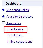 Broken Links Google Webmaster Crawl