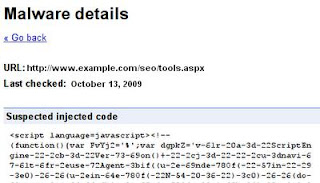 Malware details - Google Webmaster Tools
