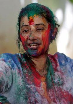 Manisha Koirala celebrates Holi