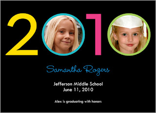 Bright 2010 Girl Graduation Announcement