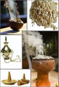 Diferentes tipos de incensos e defumadores