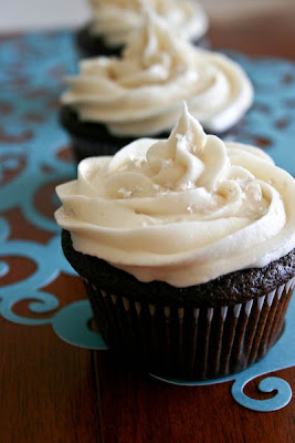Chocolate Cupcakes with Ganache Filling.