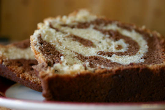 Chocolate Swirl Marble Pound Cake.