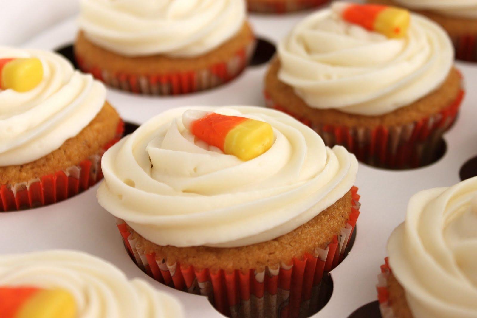 Pumpkin Cupcakes Recipe — Dishmaps