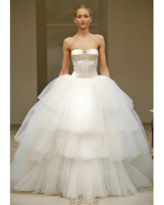Reem Acra Ball Gown Fall 2010 Collection on Martha Stewart Weddings