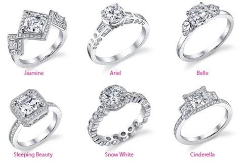 Disney Princess Diamond Engagement Rings The Modern Cinderella