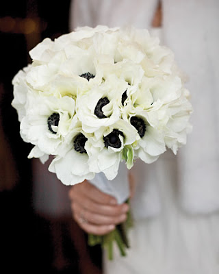 Anemones Bouquet from Martha Stewart Weddings