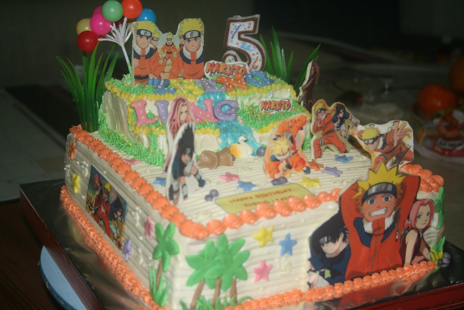 Naruto Cake For Zheng Liang
