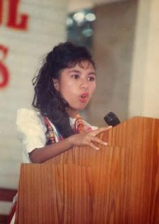 Mariposa giving her Valedictory address.
