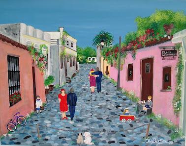 """""""Calle de los suspiros"""" Colonia Uruguay"""